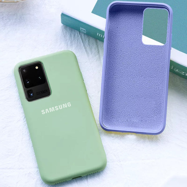 Galaxy S20 Ultra Silky Soft-Touch Silicone Logo Case