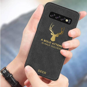 Galaxy S10 Luxury Gold Textured Deer Pattern Soft Case