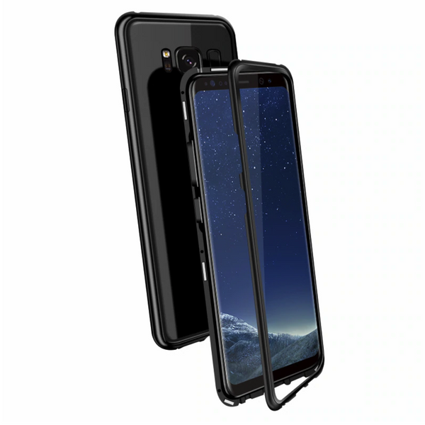 Galaxy S8 & S8 Plus Electronic Auto-Fit Tempered Glass Magnetic Case