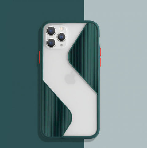 iPhone X Series Splicing Armour Silicone Matte Case