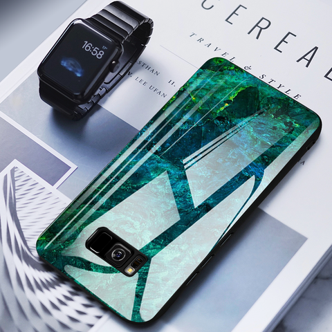 Galaxy S8 Plus (3 in 1 Combo) Sea Pattern Case + Tempered Glass + Earphones