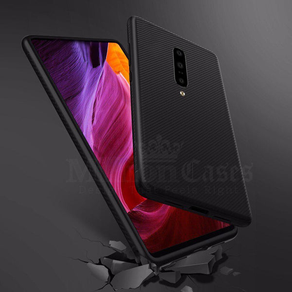 OnePlus 7 Pro (3 in 1 Combo) Twill Design Case + Tempered Glass + Camera Lens Guard