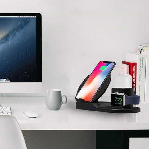 Qi Fast Wireless Charger 3 in 1 Stand For Apple Accessories
