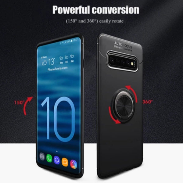 Galaxy S10 Plus Metallic Finger Ring Holder Matte Case