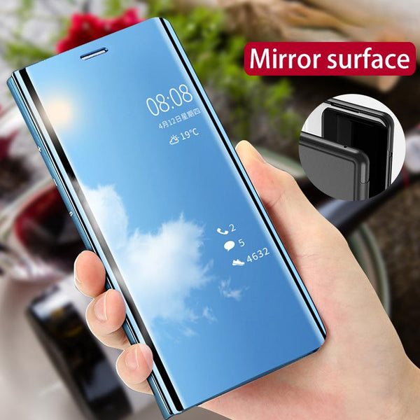 Galaxy S20 Series  Mirror Clear View Flip Case [Non Sensor Working]