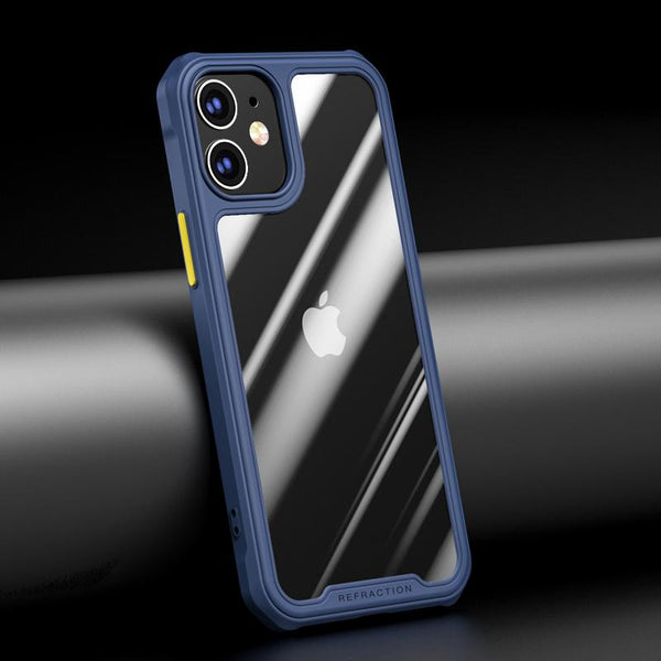 iPhone 12 Durable Shockproof Refraction Fiber Case