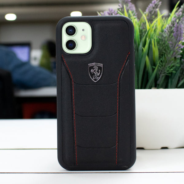 Ferrari ® iPhone 12 Mini Genuine Leather Crafted Limited Edition Case