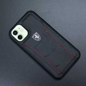 Ferrari ® iPhone 12 Genuine Leather Crafted Limited Edition Case