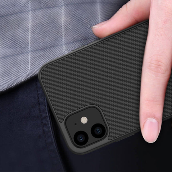 iPhone 12 Mini Synthetic Carbon Fiber Case
