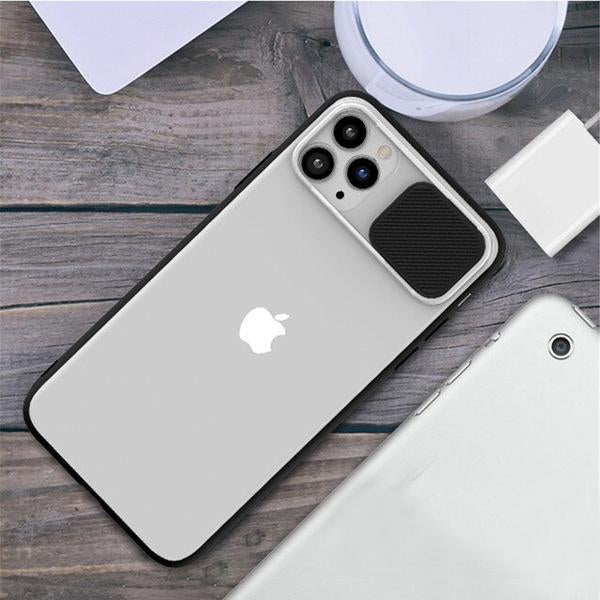 iPhone 12 Pro Max Camera Lens Slide Protection Matte Case