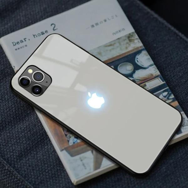 iPhone 12 Pro Max LED Logo Glass Back Case