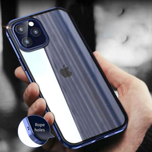 iPhone 12 Pro Max Electronic Auto-Fit (Front+ Back) Glass Magnetic Case