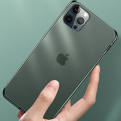 iPhone 12 Pro Max Soft Edge Matte Finish Glass Case
