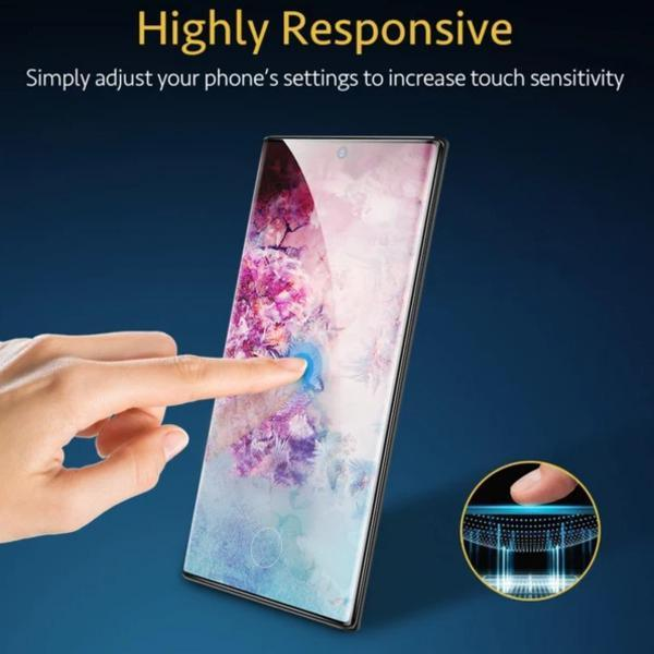 MK® Galaxy Note 10 Plus XO Tempered Glass [With In-Display Fingerprint Sensor]