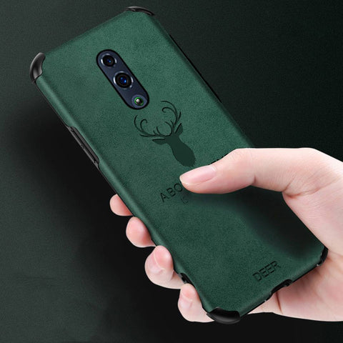 OnePlus 7 Shockproof Deer Leather Texture Cover