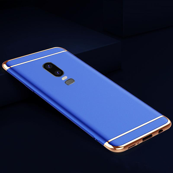 OnePlus 6 (3 in 1 Combo) Luxury Electroplating Glitter Case + Tempered Glass + Camera Lens Guard
