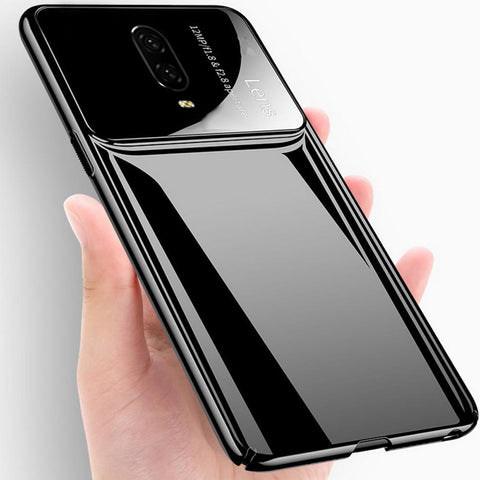 Oneplus 6T (3 in 1 Combo) Lens Case + Tempered Glass + Camera Lens Guard