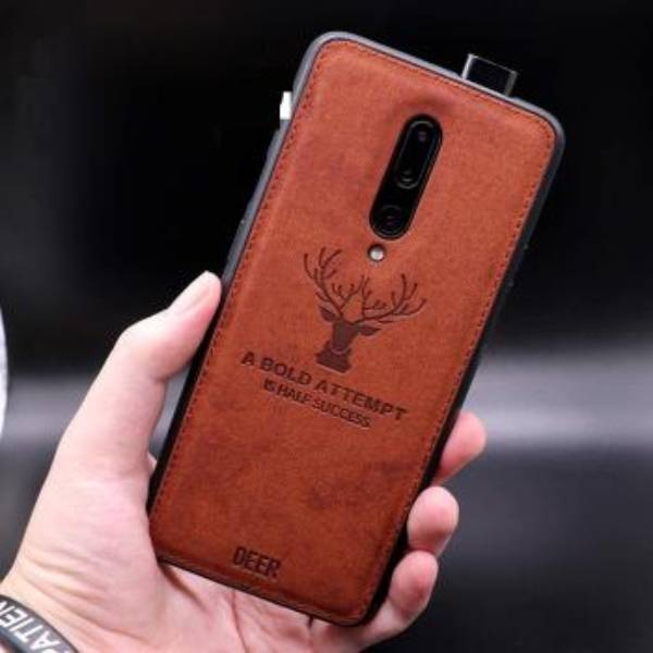 OnePlus 7T Pro (3 in 1 Combo) Deer Case + Tempered Glass + Camera Lens Guard