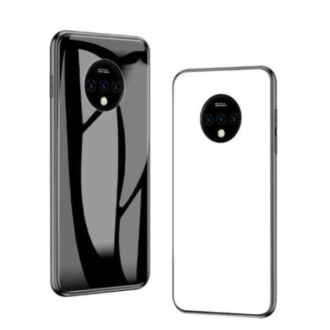 OnePlus 7T (3 in 1 Combo) Glass Back Case + Tempered Glass + Camera Lens Guard