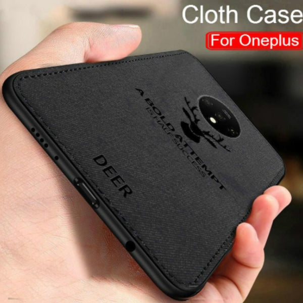 OnePlus 7T (3 in 1 Combo) Deer Case + Tempered Glass + Camera Lens Guard