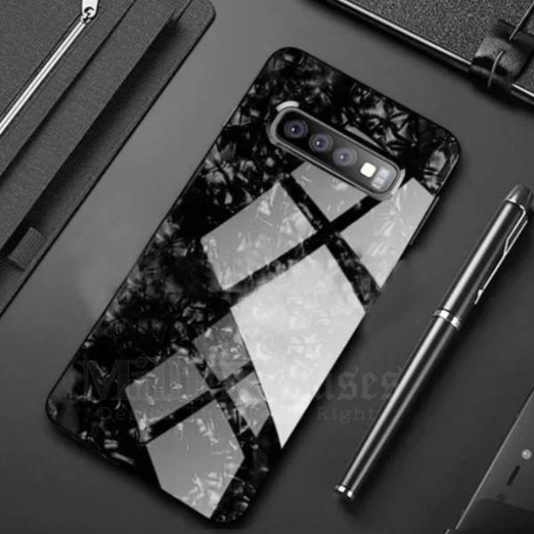 Galaxy S10 (3 in 1 Combo) Marble Case + Tempered Glass + Camera Lens Guard