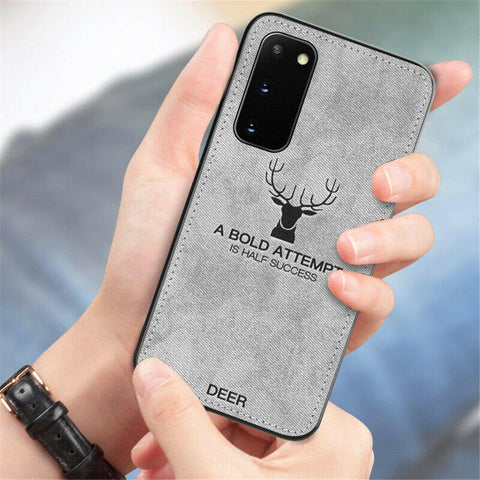 Galaxy S20 Deer Pattern Inspirational Soft Case