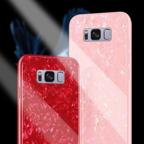 Galaxy S8 Plus (3 in 1 Combo) Dream Shell Case + Tempered Glass + Earphones