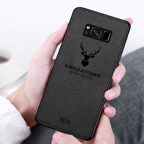 Galaxy S8 Plus (3 in 1 Combo) Deer Case + Tempered Glass + Earphones
