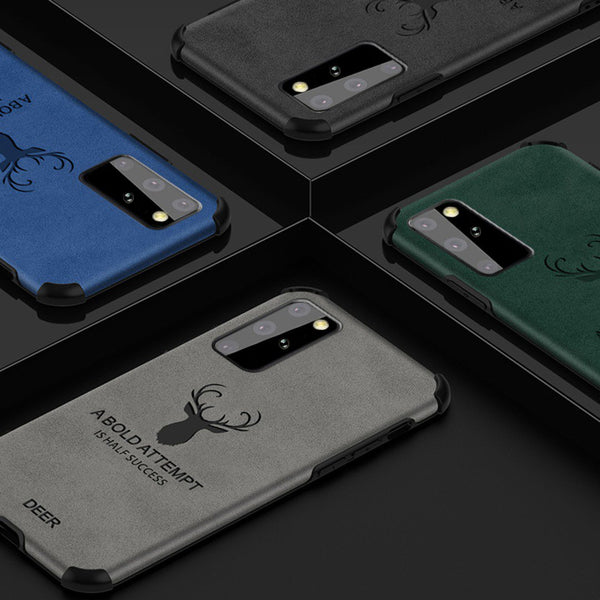 Galaxy S20 Plus Shockproof Deer Leather Texture Cover