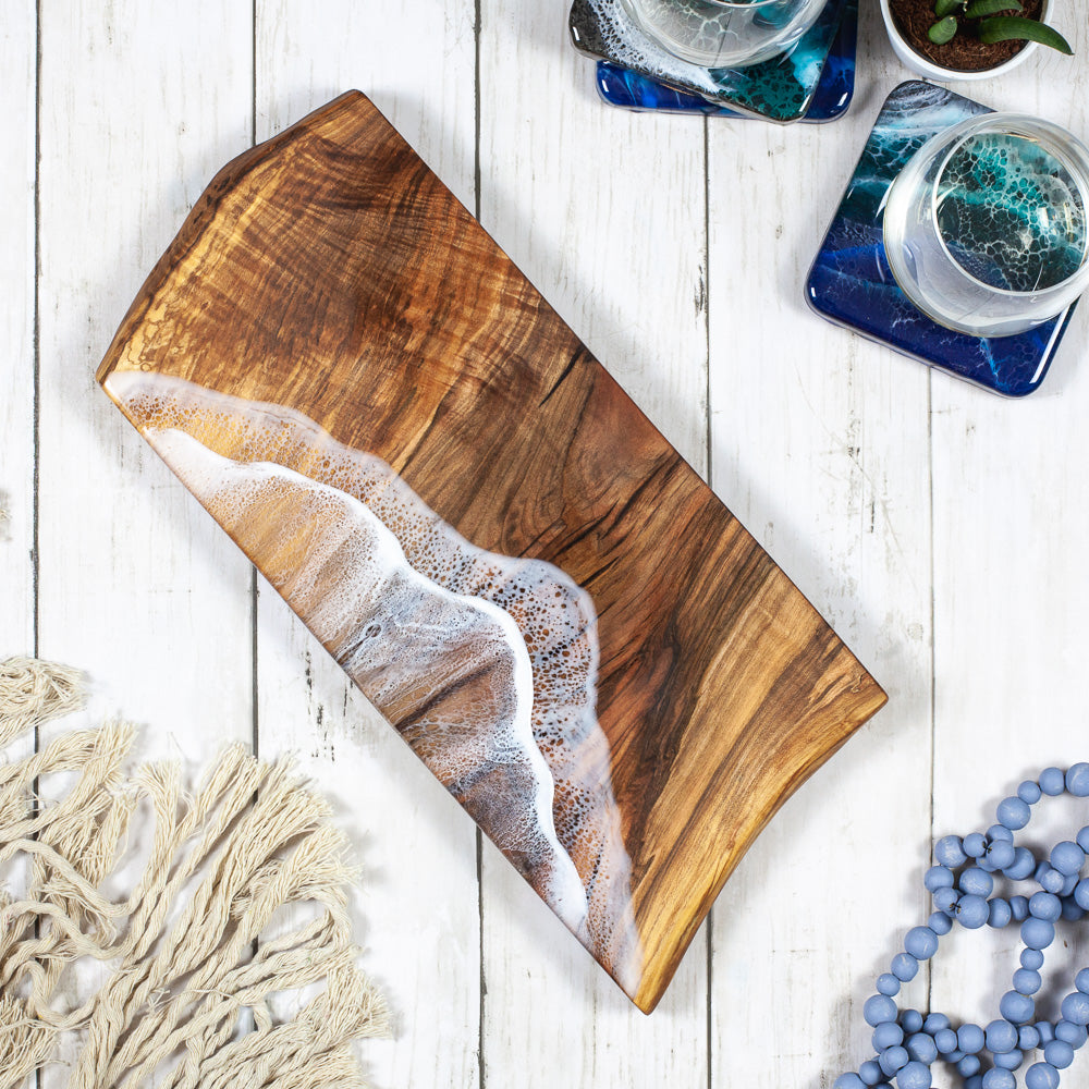 Maple Serving Board - Sea Foam Medium