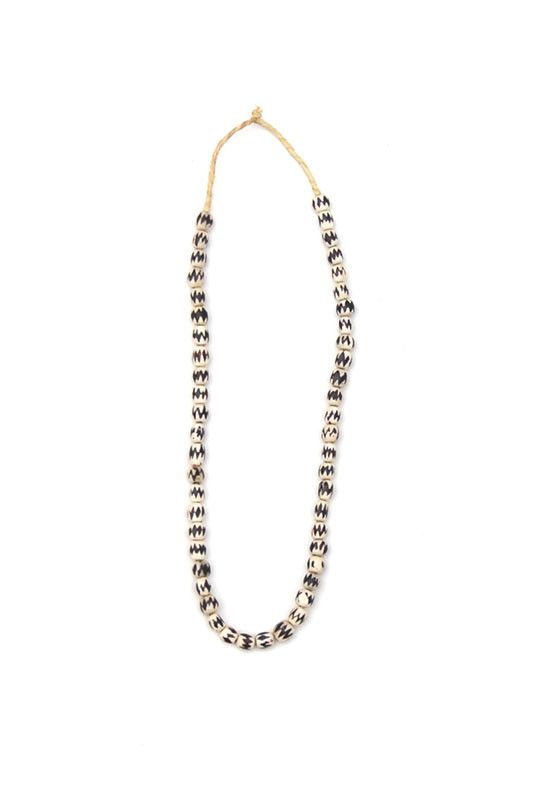 Chevron Raffia Necklace