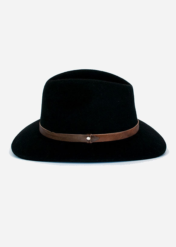 Black Traditional Fedora