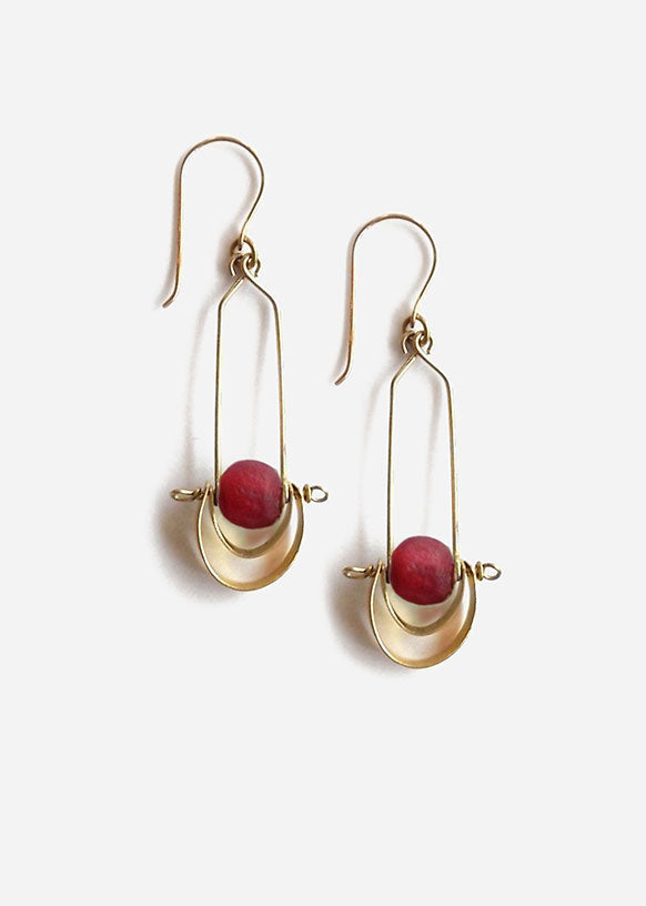 Bahari Cascading Brass Earrings