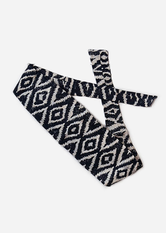 Black New Ikat Headband