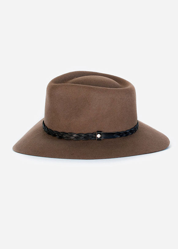 Light Brown Floppy Fedora