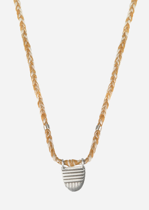 Sand Vermeil Buddhist Flag Necklace
