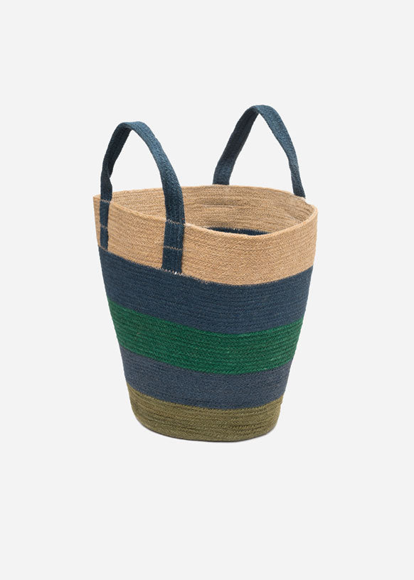 Coastal Wave Basket Bag