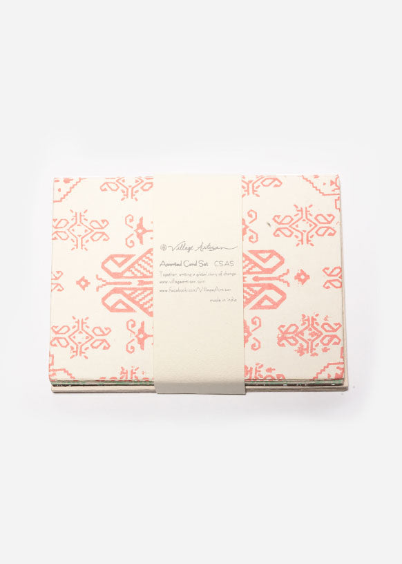 Fresh Pattern Assorted Handmade Paper Card Set