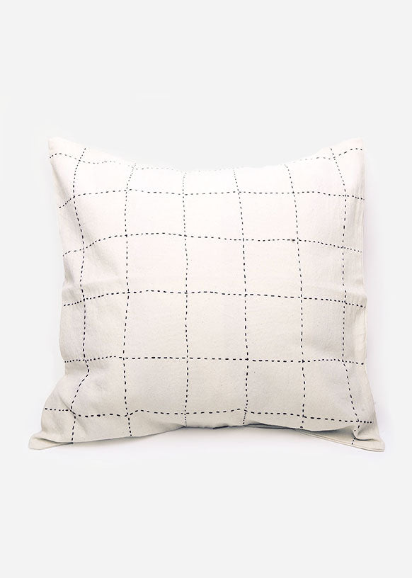 Grid Toss Pillow Cover