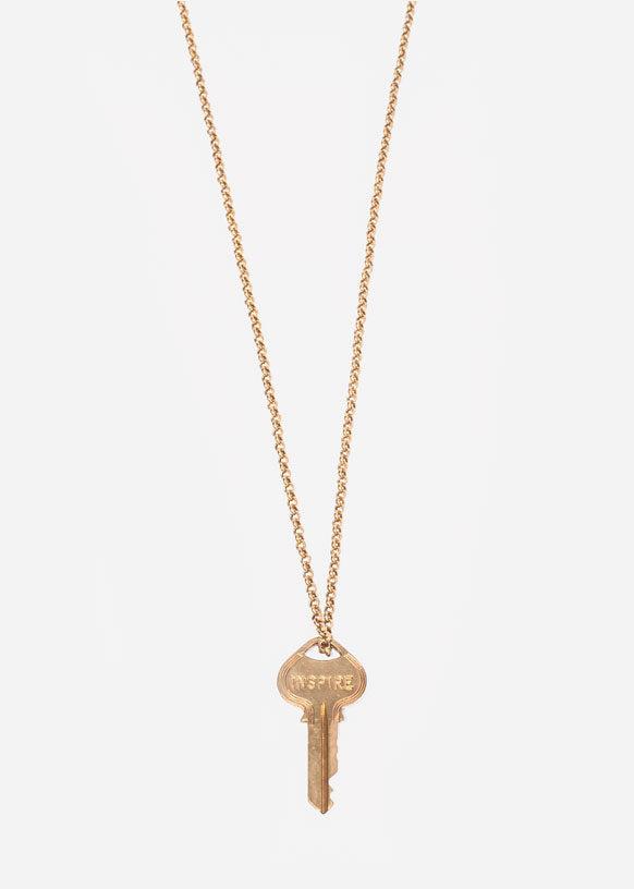 "Gold ""Inspire"" Classic Pendant Necklace"