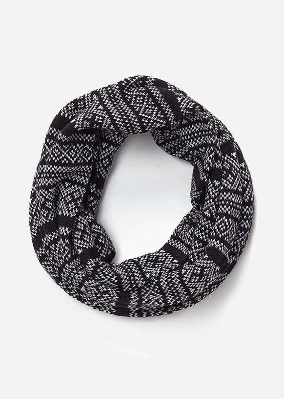 The London Infinity Scarf Black