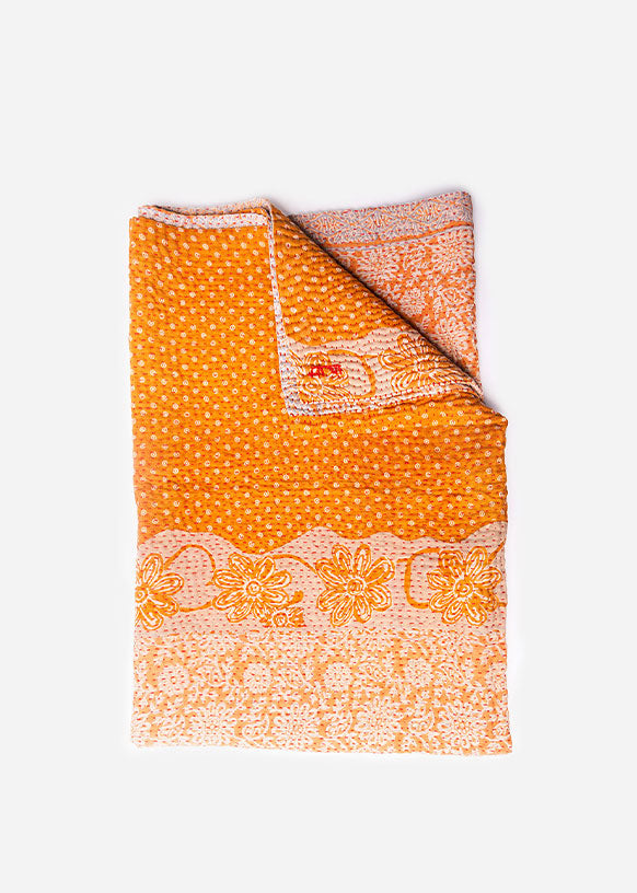 Mandarin Kantha Throw