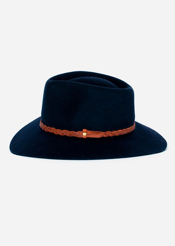 Navy Floppy Fedora