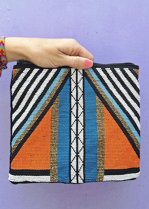 Hiptipico Neo Beaded Clutch
