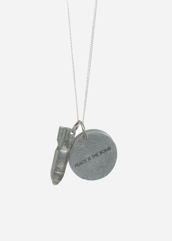 """Peace is the Bomb"" Necklace"