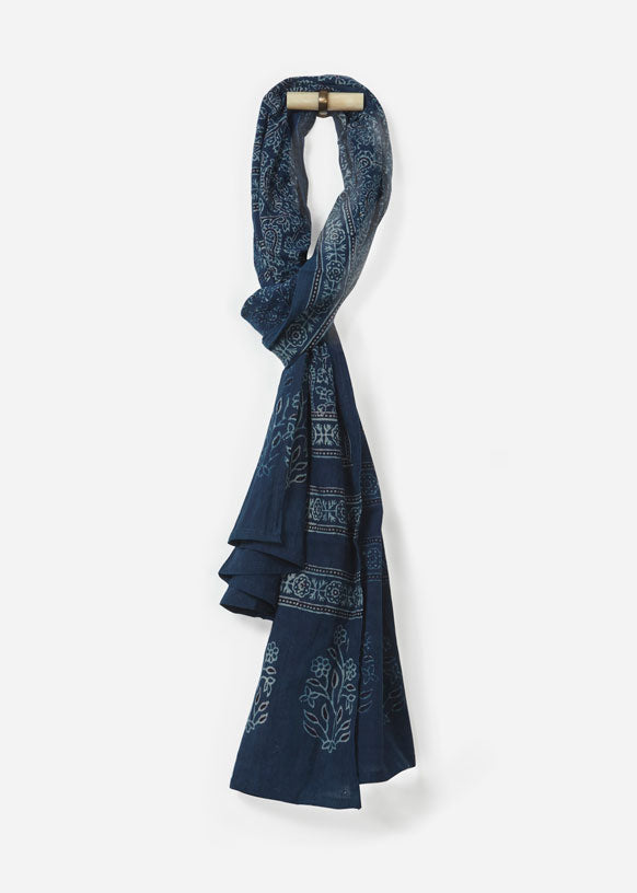 Printed Cotton Voile Scarf