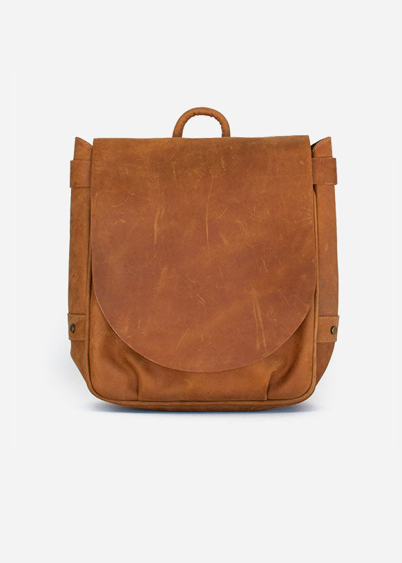 Tan Crossbody Messenger Bag