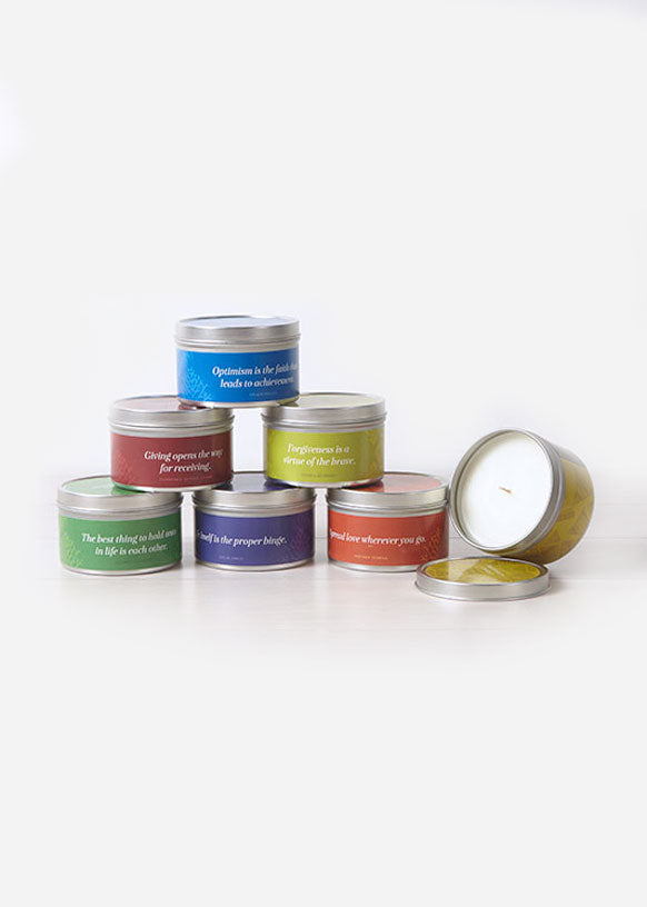 Be Inspired Travel Tin Candle