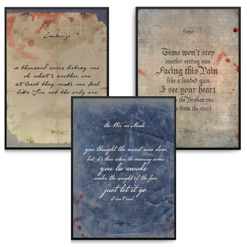 DECLARATION - 8x10 LYRIC PRINTS