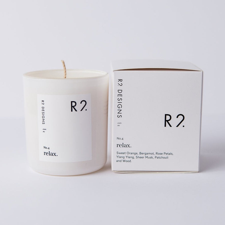 R2 Relax Candle and box